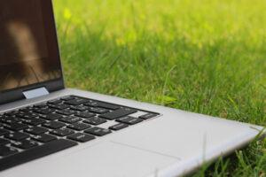 Laptop im Grünen