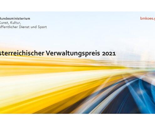 Titelbild BMKÖS zum Österreichischen Verwaltungspreis 2021